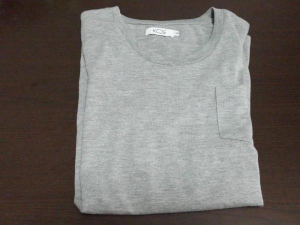 KOE ポケットTシャツ グレー
