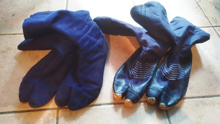 保温地下足袋、マルゴと力王を比較