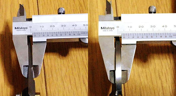 村久 剪定鋏 A型(200mm)の刃の厚み