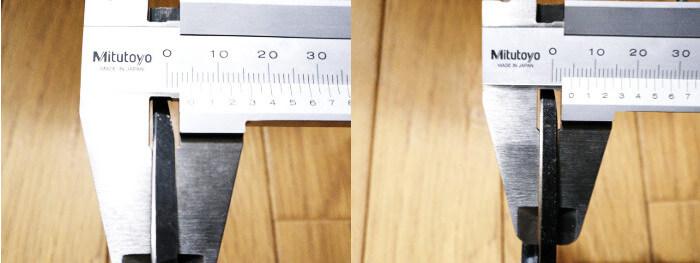 飛庄 飛鳥型の刃の厚み