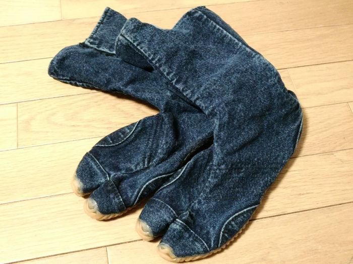 丸五 ジーンズジョグ(デニム素材の地下足袋)